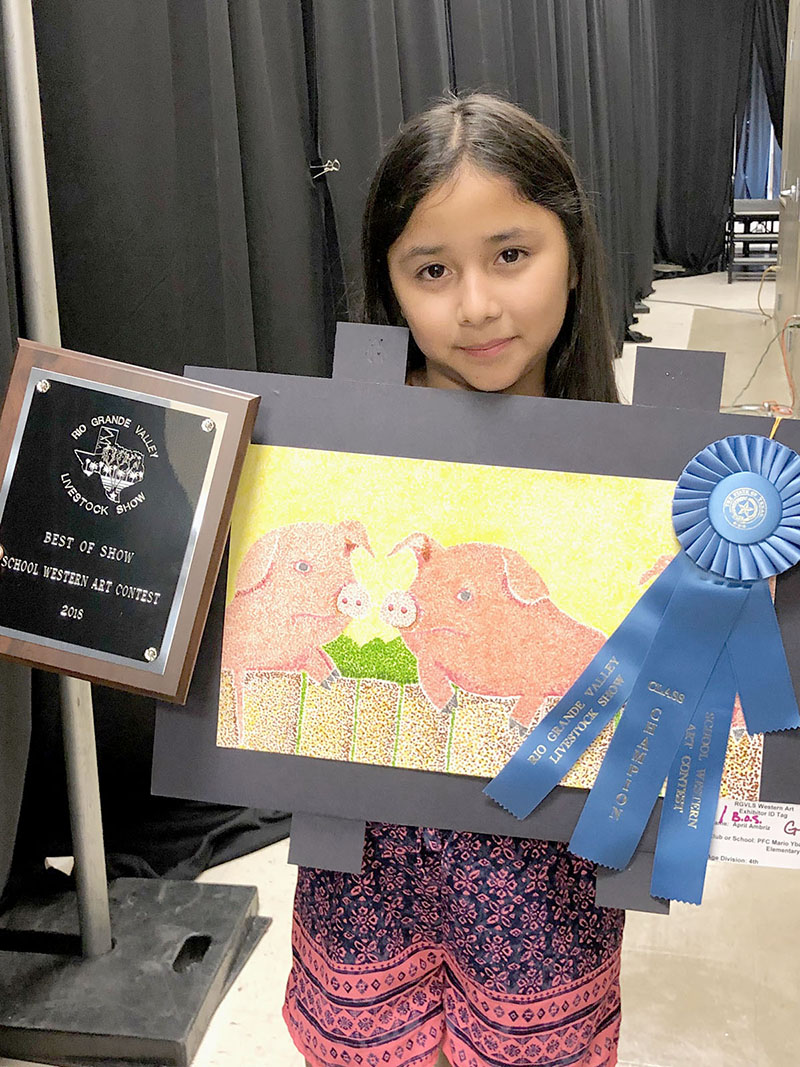 Elementary students win art awards at Livestock Show